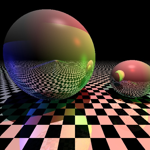 Beautiful raytraced colored spheres